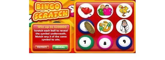 Bingo Scratch Card