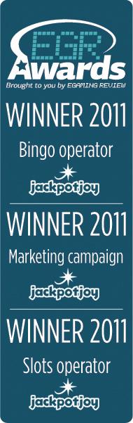 JackpotJoy utmärkelser